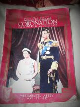 VINTAGE 1937 COLLECTABLE MAGAZINE WEEKLY ILLUSTRATED CORONATION SOUVENIR & GUIDE